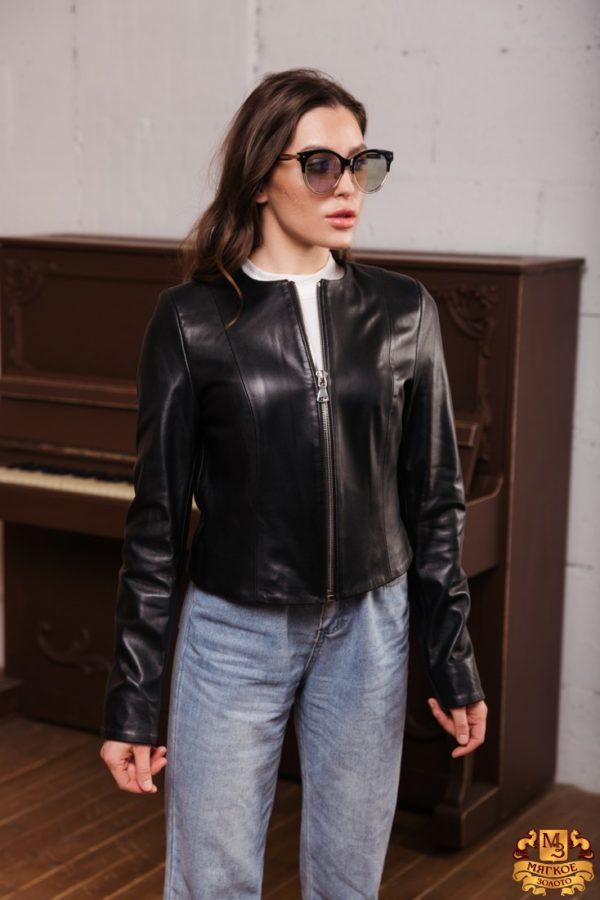 Куртка женская кожаная Drejani 3244