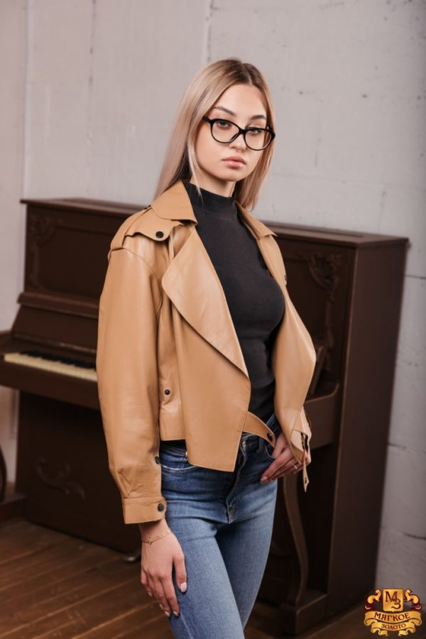 Куртка кожаная женская Drejani 3232