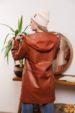 Полупальто женское кожаное OKSA Z2136