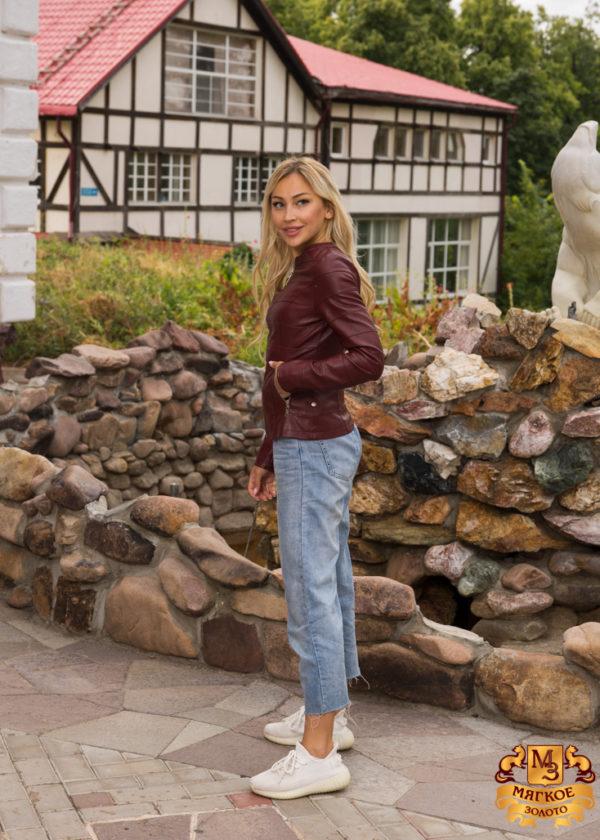 Куртка женская из эко-кожи 1501