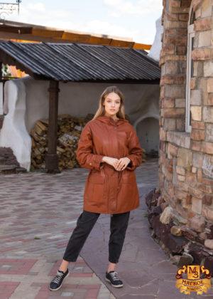Куртка женская кожаная OKSA Z2136