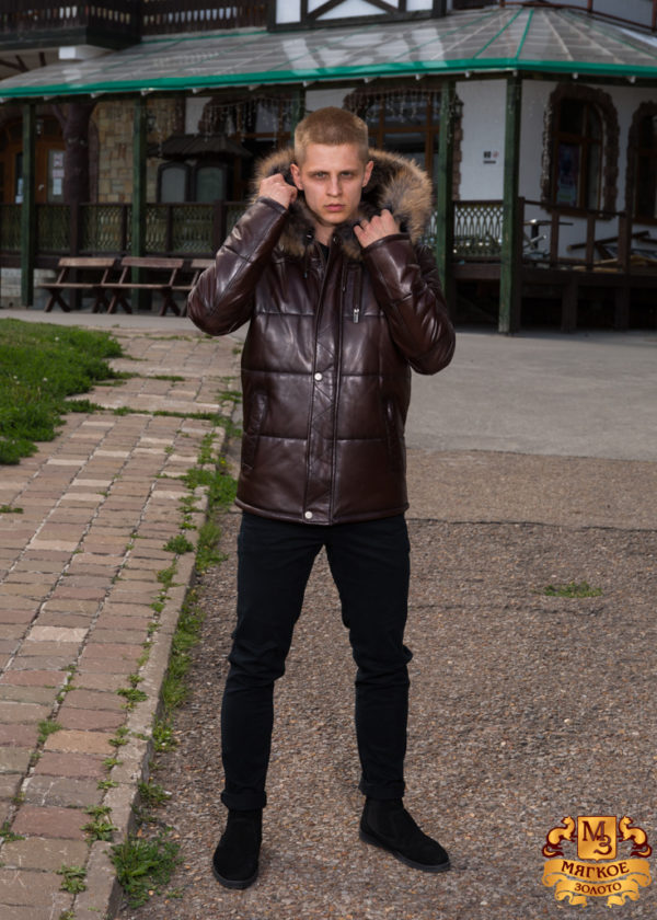 Кожаная куртка мужская Pashmod