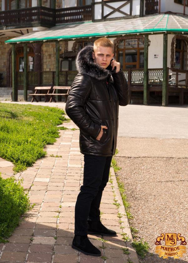 Кожаная куртка мужская GIO MELLI F707