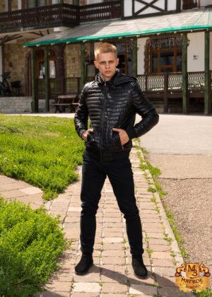 Куртка мужская из эко-кожи 718