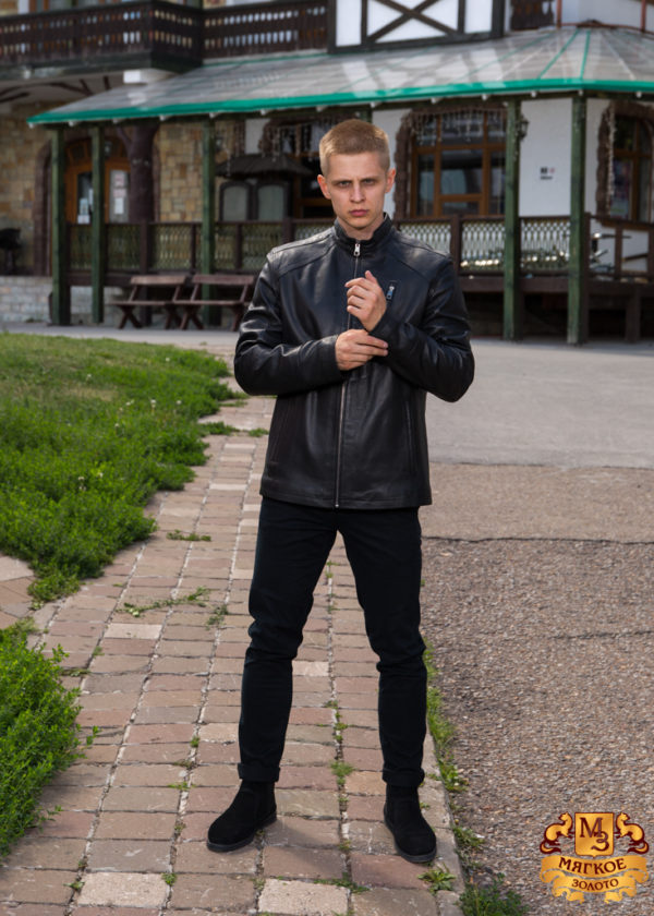Кожаная куртка мужская DREJANI 2020