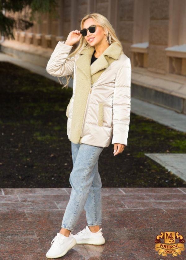 Куртка женская из эко-меха керли REBBEKA Q-185