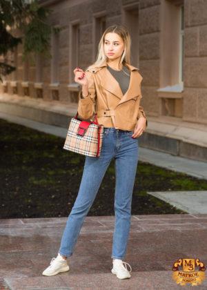 Кожаная куртка женская DREJANI 3232